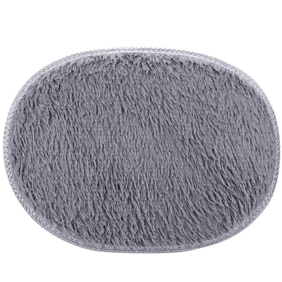 40*30cm Bathroom Carpet Bath Mat Super Magic Slip-Resistant Pad Room Oval Carpet Floor Mats Anti-Skid Fluffy Shaggy Area