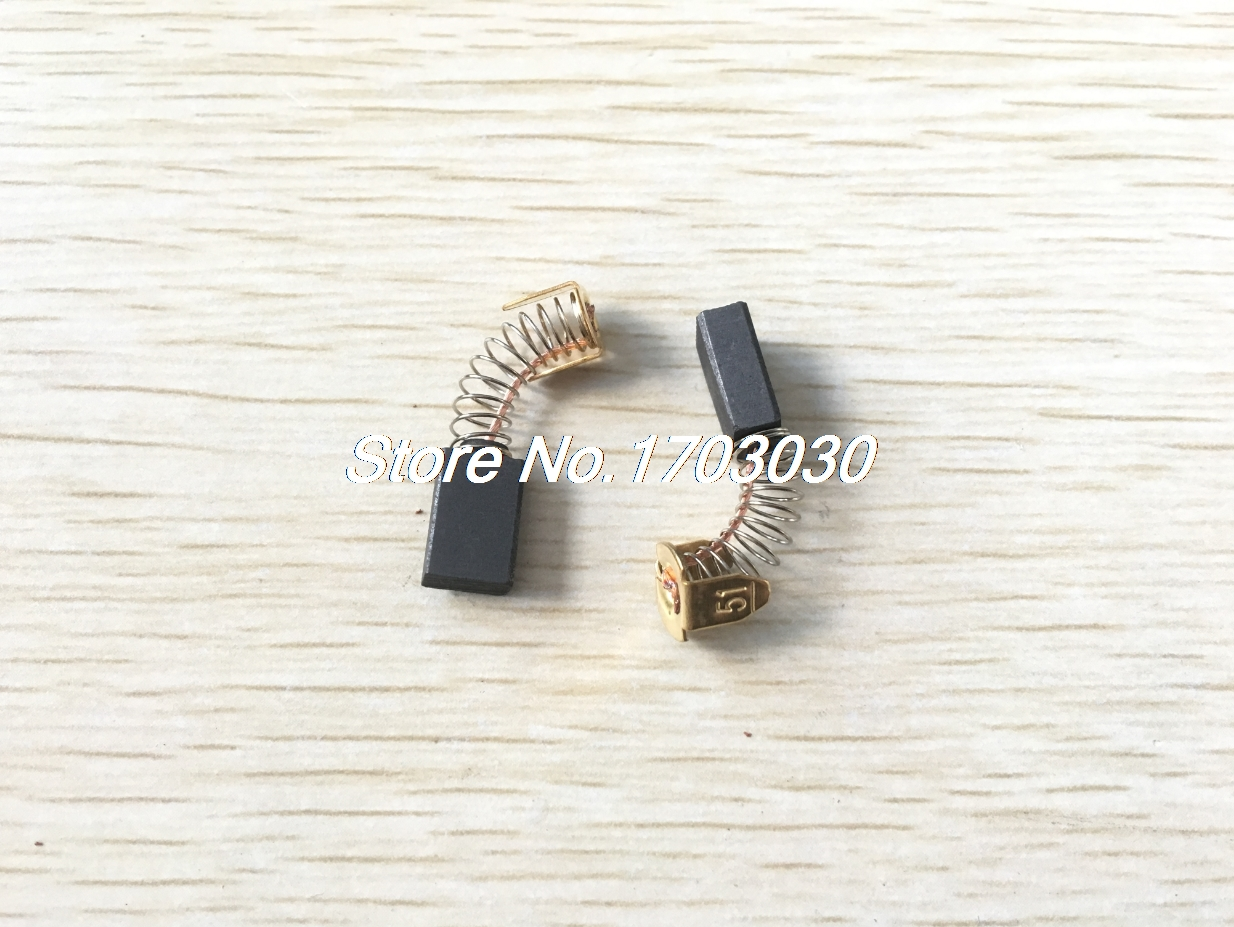 10 Pair Power Tool 12.3mm X 8mm X 5mm Carbon Motor Brushes Spare Part