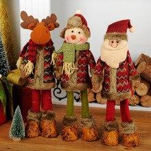 Выдвижной Рождественский Санта-Клаус/Снеговик/Лось куклы стоячие украшения Рождественские украшения Детские Рождественские подарки игрушка A8B45