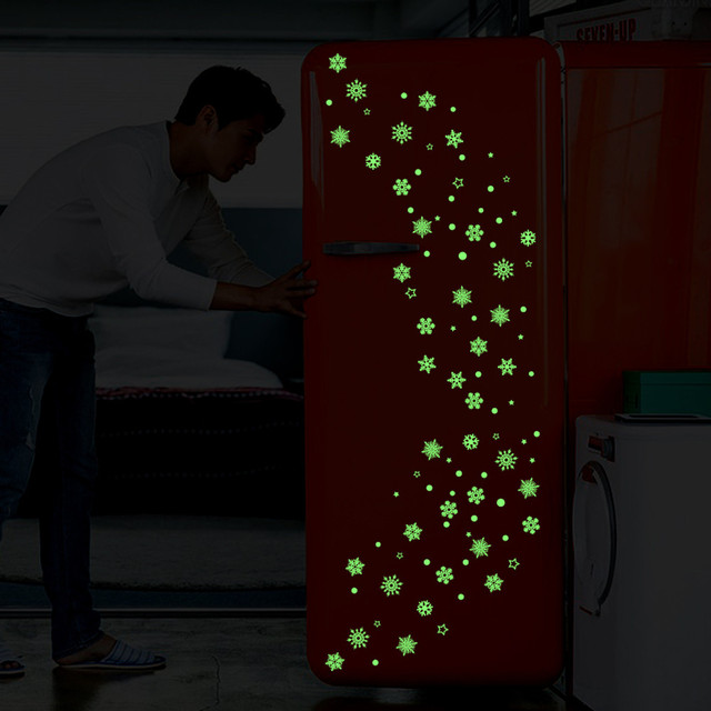 Luminous Snowflake Wall Decor Sticker