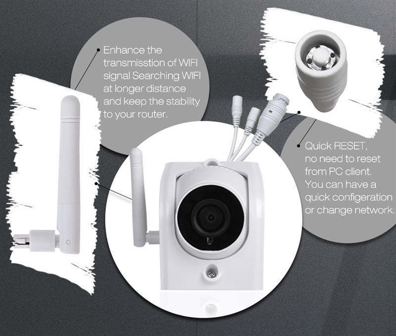 DIGOO DG-W02f W02f Cloud Storage 3 6mm Lens 720P Waterproof WIFI Security  IP Camera Motion Detection Alarm Onvif Monitor