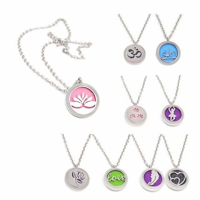 Духи Медальон Духи Ожерелье Эфирное Масло Ароматерапия Диффузор Кулон Yoga Инструменты