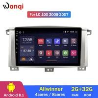 2G Оперативная память 32G Встроенная память Android 8,1 Автомобильный gps для Toyota Land cruiser 100 GX усилительный насос LC 100 автомобильное радио, dvd плеер нав