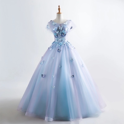 luxury butterfly embroidery lace ball gown wonderland cosplay medieval dress Renaissance gown queen VictorianBelle Ball/belle