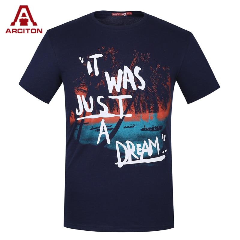 A arciton 100 cotton men t shirt printed fashion design t for Designer t shirts brands