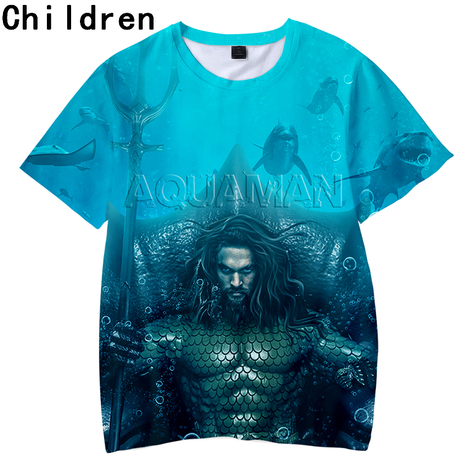 Aquaman 3D Printed Children   T  -  shirts   Summer Short Sleeve Fashion Tshirts 2018 Hot Sale Casual Streetwear Kids Tee   Shirts