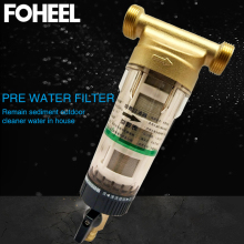"""FOHEEL предфильтр система фильтров для воды Латунь антиоксидантный материал 30 лет lifitime очиститель весь дом 1/""""& 3/4""""& """" предварительный фильтр"""