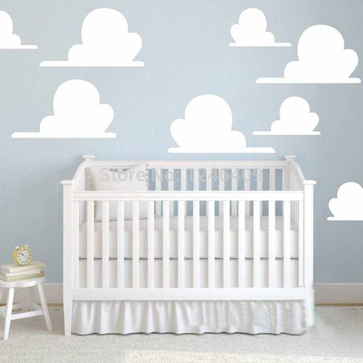 Cute Clouds Toy Story Inspired Wall Sticker 8pcs Set Great For