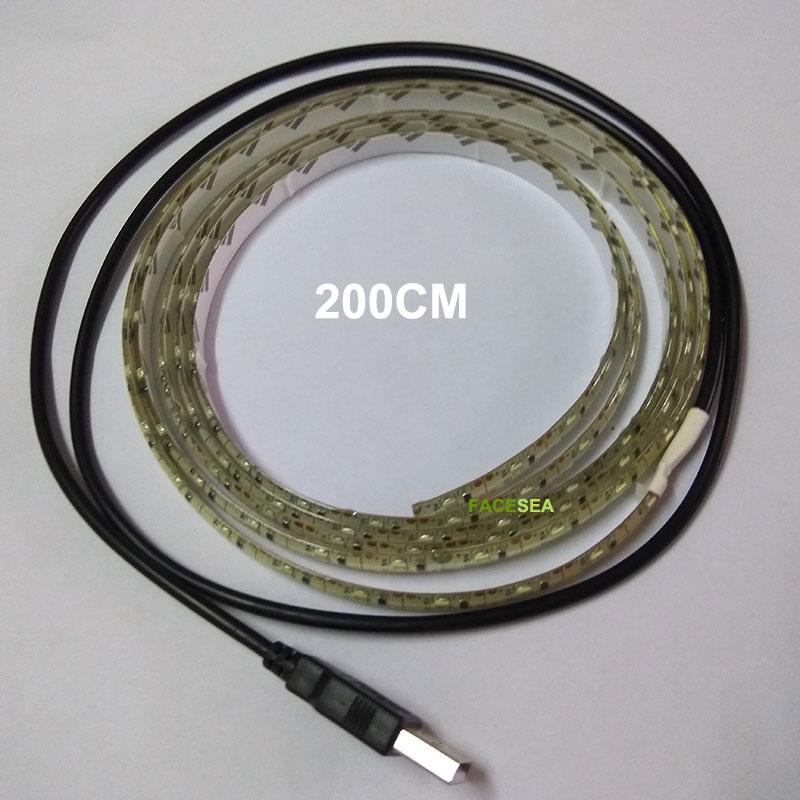 50см 1м 2м 5В USB Магнитола SMD3528 Көгілдір - LED Жарықтандыру - фото 3