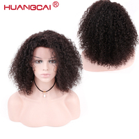 Kinky Curly Human Hair Wig Full End Brazilian Lace Front Human Hair Wigs For Women Short Bob Natural Remy Hair Wigs Pre Plucked