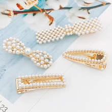 Imitation Pearl Beads Metal Hairpins Bobby Pins Barrettes Hair Clips Women Girls Hairgrips Accessories Headwear
