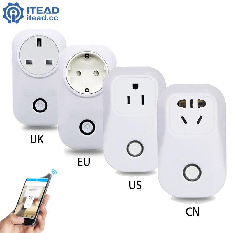imágenes para Sonoff UE/EE.UU./REINO UNIDO Wireless WiFi Socket Temporizador 10A 2200 w fuente de Alimentación Plug Remoto IOS Android Remoto Control Inteligente del Hogar