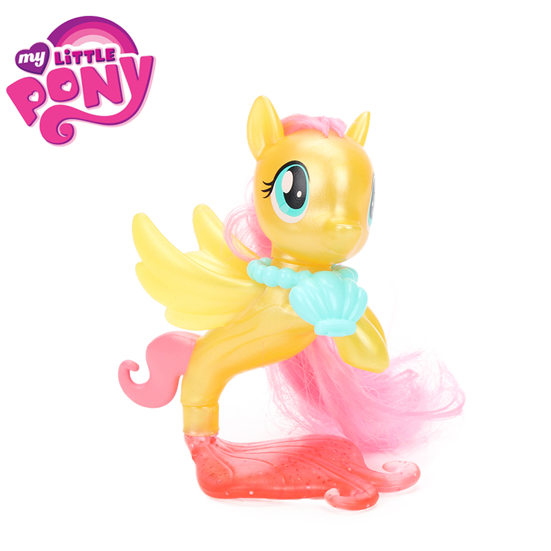 My Little Pony the Movie Fluttershy Rainbow Dash Pinkie Pie Seapony PVC Action Figures Shiny Pony Colletion Model Dolls Gift Toy the little old lady in saint tropez