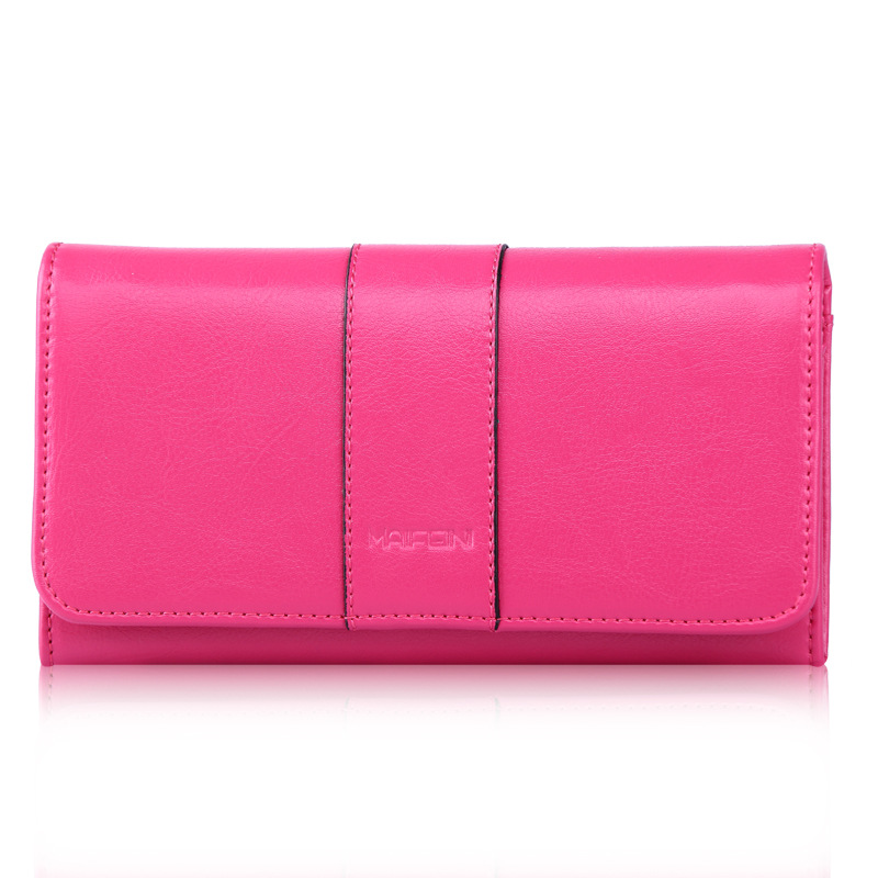 все цены на 2017 Vintage Summer Fashion Women Lady Genuine Leather Bag Long Wallet Pocket Card Holder Clutch Purse Cell Phone Pocket Wallets онлайн