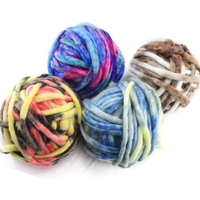 250g/ball Multicolor Icelandic Wool Coarse Duan dye Wool Yarn Super Bulky Arm Knitting Wool Hat Carpet Mat Hand Crochet Yarn
