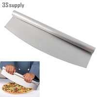 New 14 Professional Pizza Slicer Rocker Knife Stainless Steel Pizza Cutter Rocker Knife Kitchen Cooking Accessories