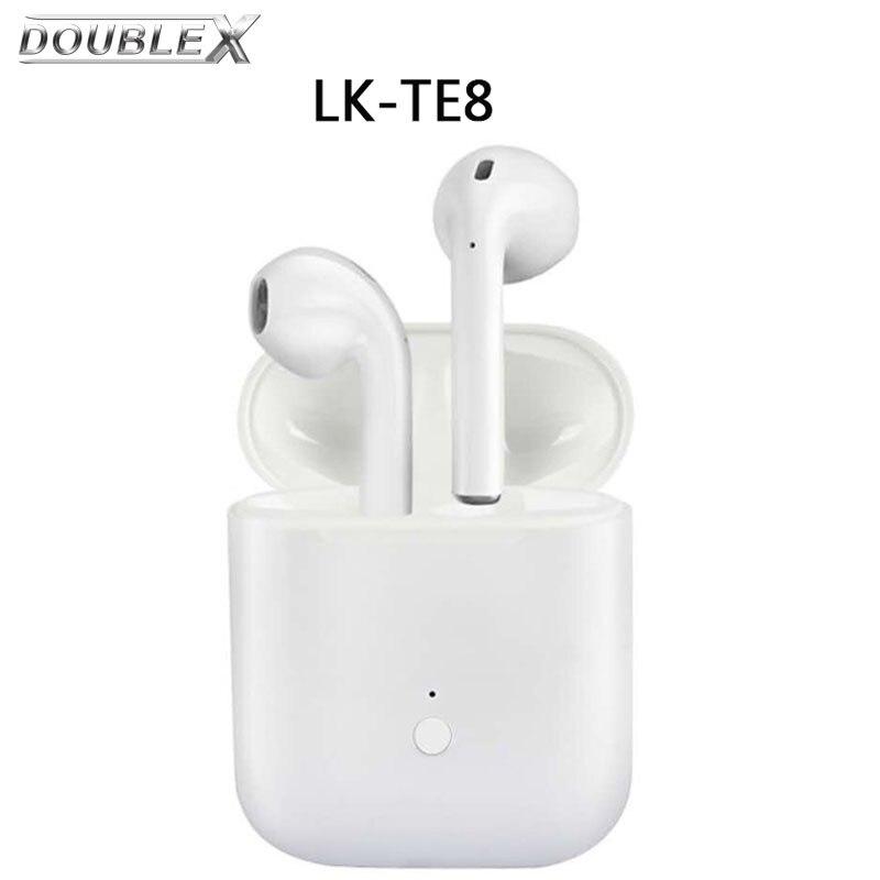 DoubleX LK-TE8 TWS Bluetooth écouteurs Casque Sans Fil In-Ear Stéréo Basse Écouteur Avec Micro pour iPhone Android PK i9s i7s i8