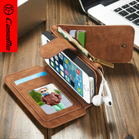 CaseMe Genuine Leather Case For IPhone 5 5S SE Luxury Multifunctional Stand Flip Wallet Cover With