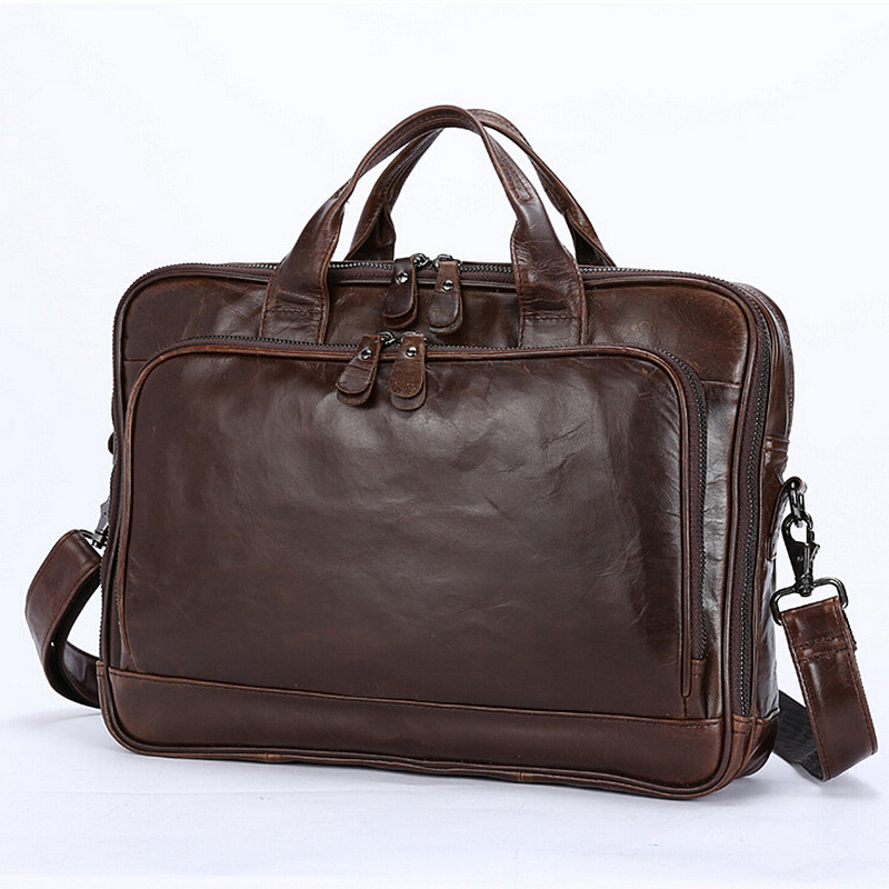 Genuine Leather Bag Men Messenger Bags Casual Multifunction Shoulder Bags Travel Handbags Men Tote Laptop Briefcases Men Bag guaranteed 100% natural genuine leather men bag shoulder tote leather men travel bags men s bags handbags large size