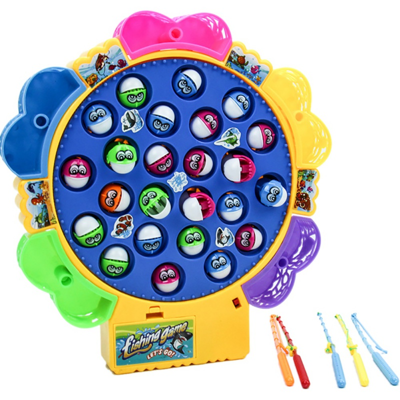 Baby Classic Fishing Toys Funny Relax 21 Colorful Fishes And 4 Poles Baby Toys Best Birthday Christmas Present