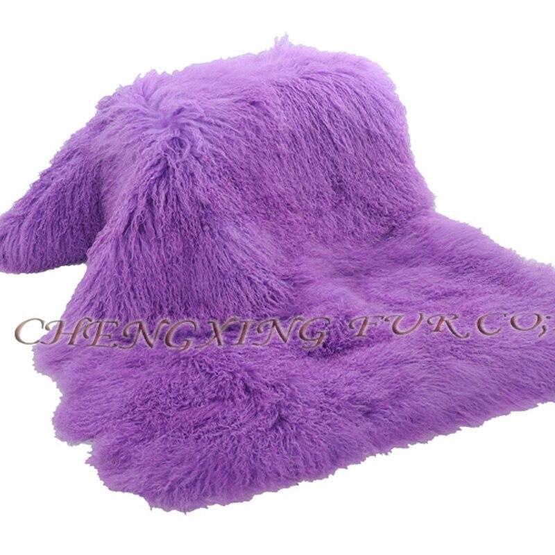 Dog Fur Rugs: CX D 23F Luxury Shaggy Rug Mongolian Lamb Fur Carpet