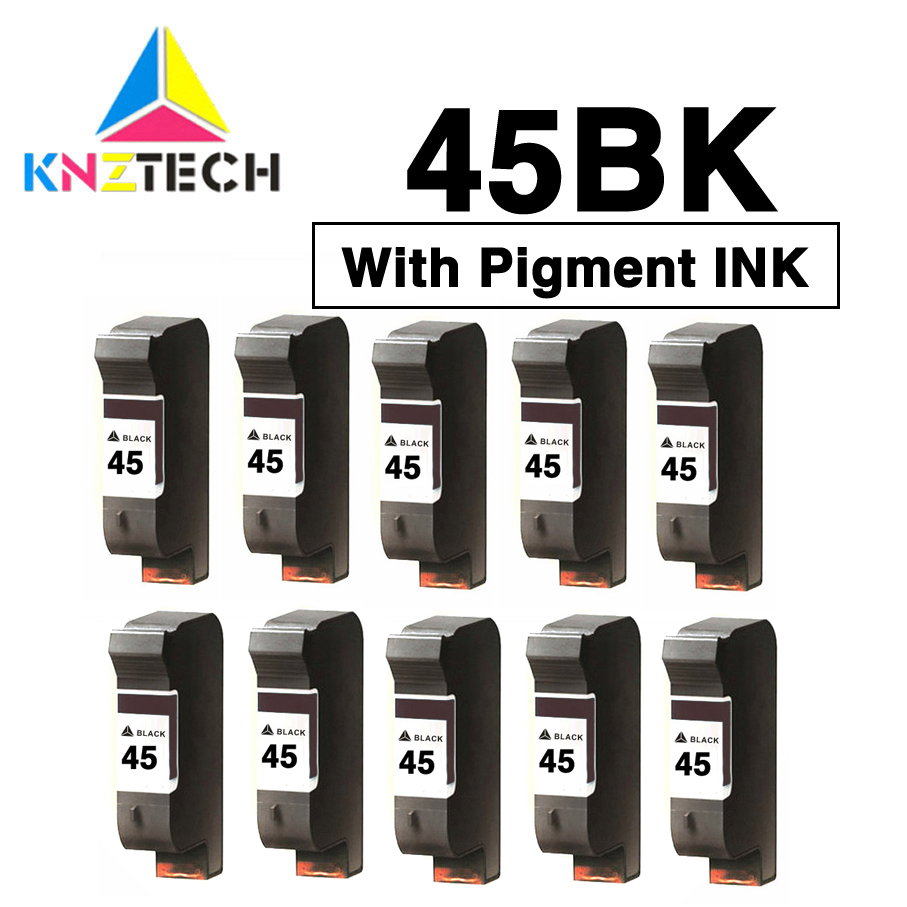 With Pigment Ink Compatible For 45 Compatible Black Ink Cartridge Replacement For Hp45 51645A Deskjet 710c 720c 815c 832c 850c