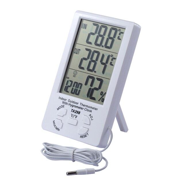 Indoor outdoor draht thermometer indoor outdoor temperaturanzeige ...
