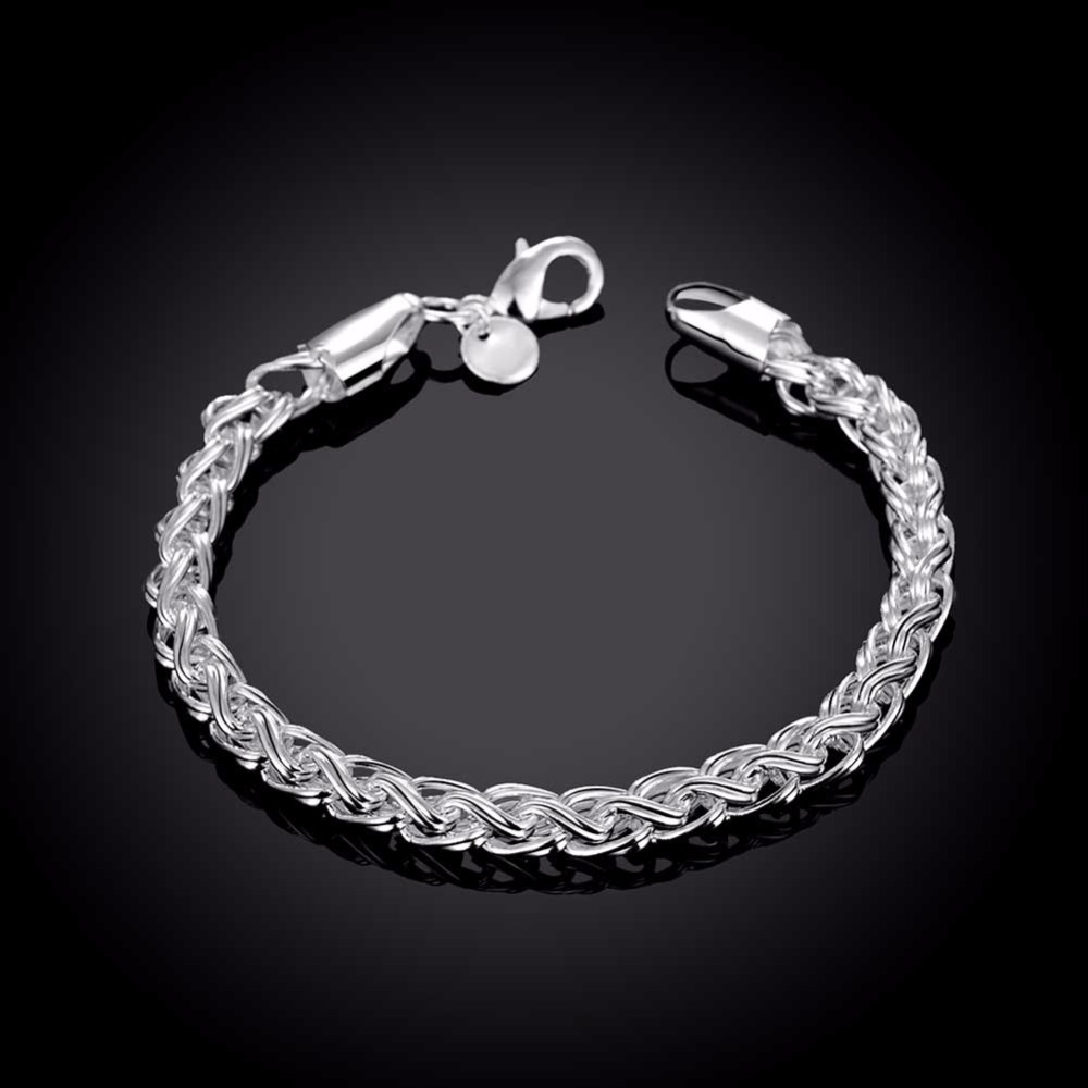 Ring Bracelet Chain: Men's Jewelry 6mm Chains 8'' Bracelet Bangle 925 Sterling