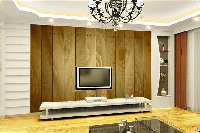 Custom retro wallpaper, wood texture murals for the living room ...