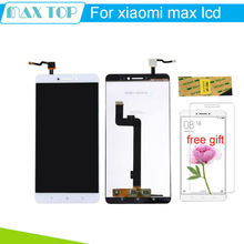 For XiaoMi MI MAX LCD Display + Touch Screen Assembly 6.44 inch XiaoMi MAX Digitizer + Tempered Glass  protector film