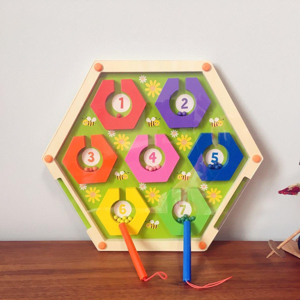 Деревянный лабиринт Монтессори игрушки для мальчиков девочек раннего образования математика игрушка Вечерние игры с семьей