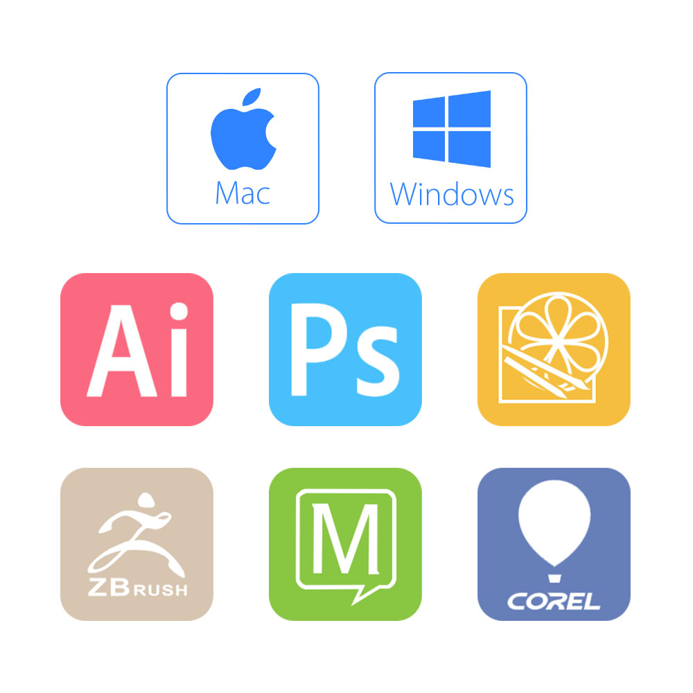 XP-Pen Artist10S rajz tablet grafikus monitor tábla toll kijelző - Számítógép-perifériák - Fénykép 6