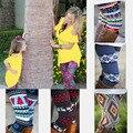 A família Roupas Combinando 2017 Outono Ocasional mãe e filha roupas Chirstmas Impressos Calças Capris Leggings Projeto do Dia Das Bruxas