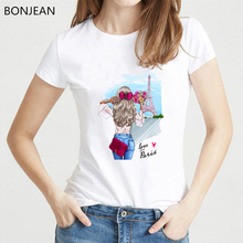 Love Paris Holiday T shirt women Harajuku Streetwear tshirt femme New Arrival 2019 t-shirt female Korean Fashion Clothing