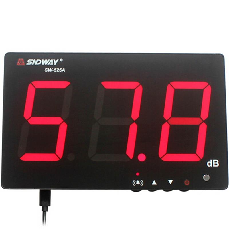 SNDWAY sonomètre numérique 30 ~ 130db grand écran affichage Restaurant Bar intérieur/bureau/maison tenture murale sonomètre