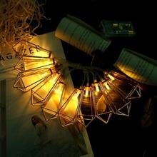 Светодиодный светильник 10 светодиодный на батарейках металлические вечерние Сказочный светильник декоративный светильник