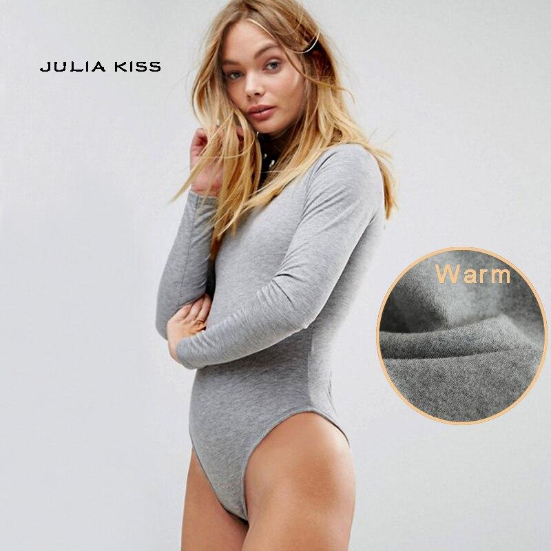 Autumn & Winter Wear Women Turtleneck Long Sleeve Warm Bodysuits