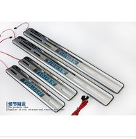 With Blue LED light High quality stainless steel Scuff Plate/Door Sill for 2010 2015 VW Tiguan