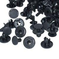 100 X Car Auto Clip 8mm Hole Nylon Trim Boot Rivet Push Clips Black For SUV