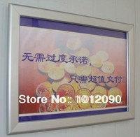 Aluminum Advertising Board Picture Frame Ad Box Wall Mount Graphic Printing