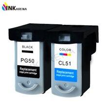 PG-50 CL-51 картридж для canon PG50 CL51 PIXMA iP2200 iP6210D iP6220D MP150 MP160 MP170 MP180 MP450 MP460 MX310 принтера чернила