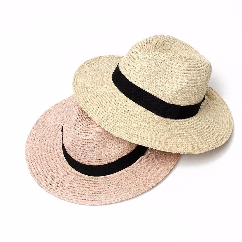 9e5fbea1 Fashion Hawaiian straw hat sun hat Cute Women sun hats bow hand made women  straw cap beach big brim hat casual girls summer cap