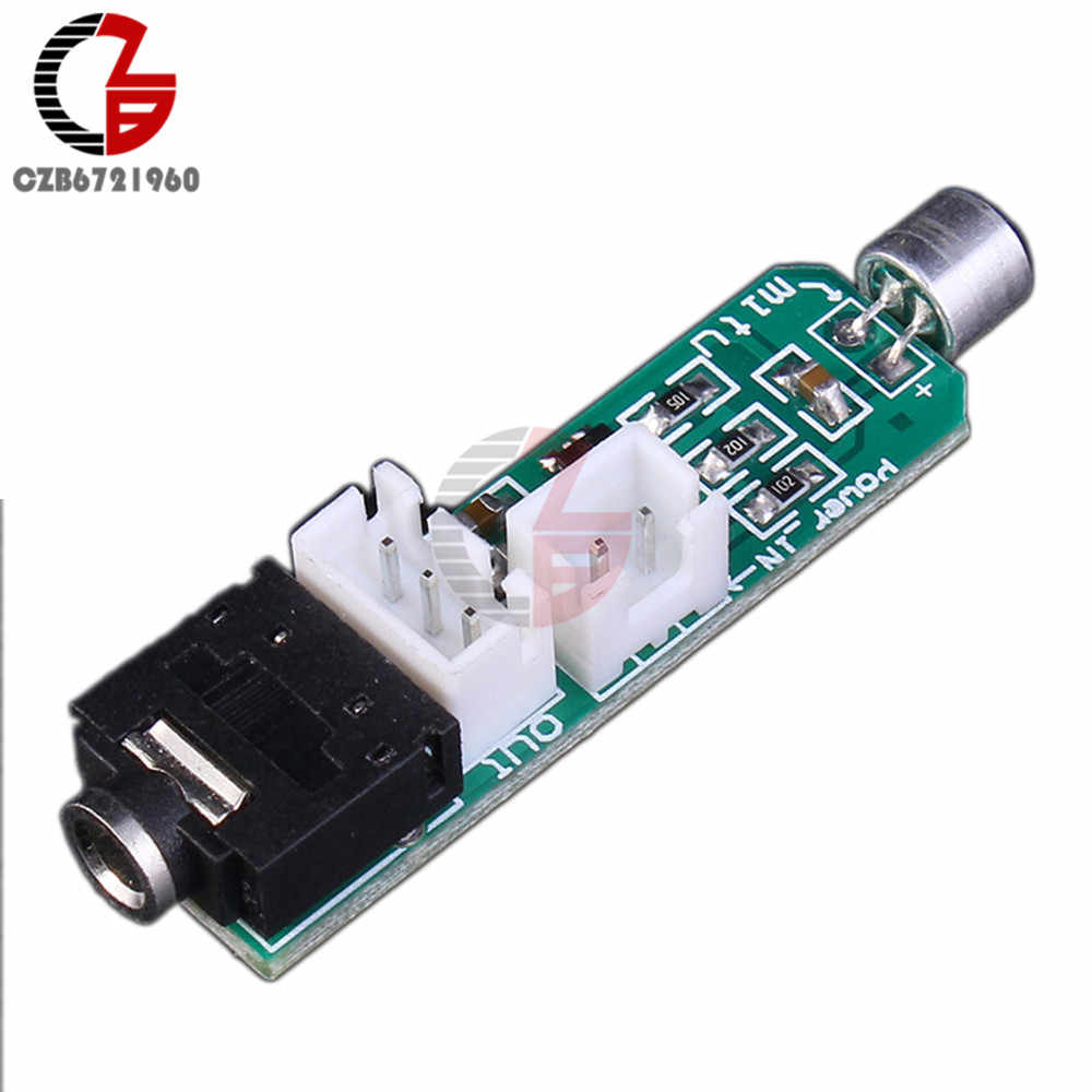 Dc 1.5-5V Capacitieve Microfoon Circuit Versterking Module 3P Terminal 3.5 Mm Audio Socket