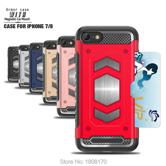 new style 32de3 08308 US $335.8 |C Ku Magnetic Car Mount Armor Hybrid Case For Iphone X Plus 9 8  7 6 6S Plus LG V30 G6 Q6 Q8 Shockproof TPU PC Skin Cover 200pcs-in ...