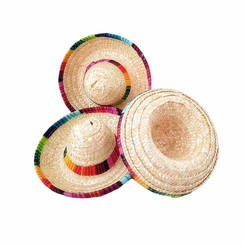 6pcs lot natural straw mini sombrero new design mini mexican hat baby  shower birthday party Tabletop Party Supplies-in Party DIY Decorations from  Home ... 7cc494df953