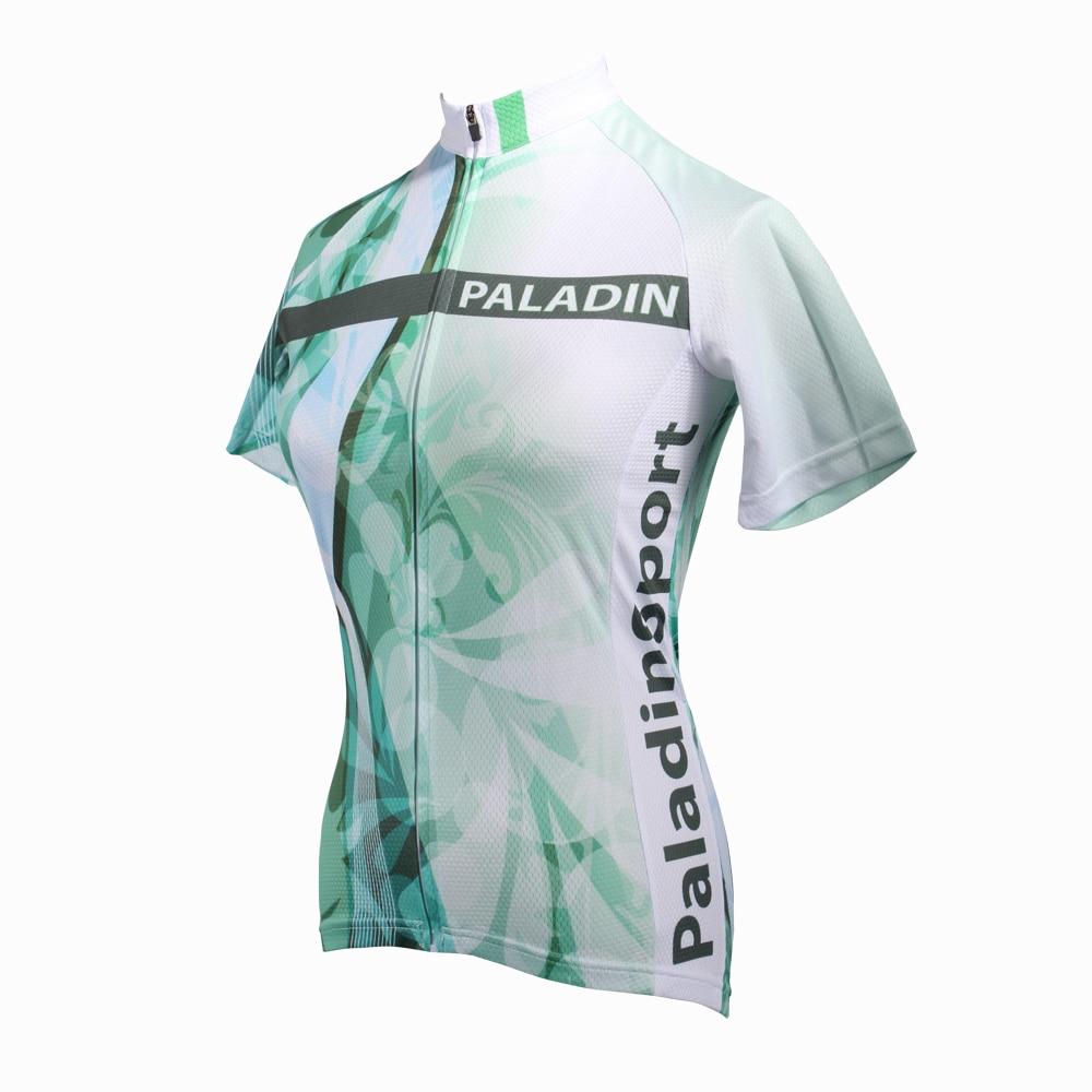 """Dámská cyklistická trička s dlouhým rukávem PALADIN """"Green flower"""""""