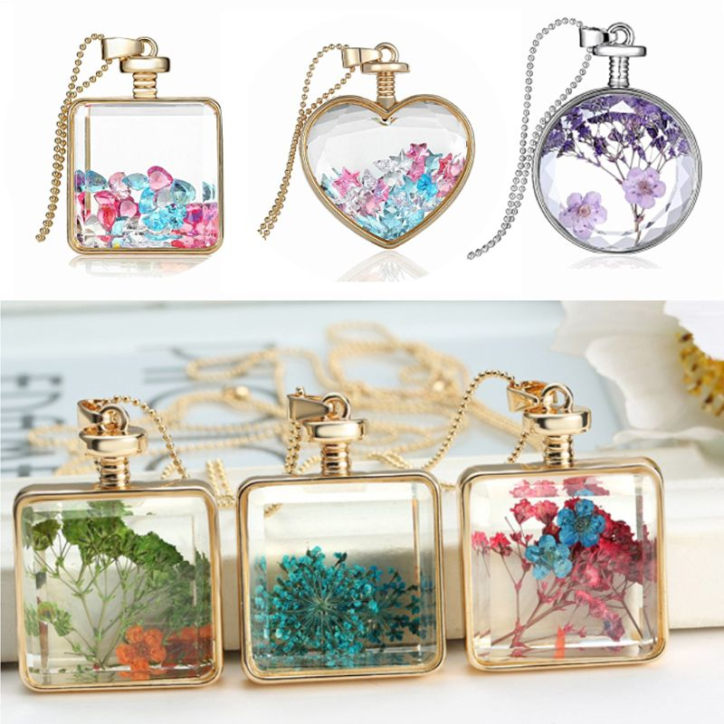 1 Pc Metal Frame Bezel Cabochon UV Resin Pressed Flowers Pendant Bracelet Necklace Keychain Earring DIY Jewelry Making
