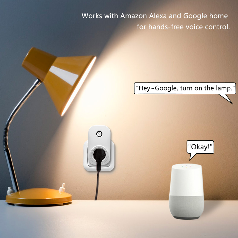 Image 3 - Tuya Smart Life Wifi Socket Israel Plug 16A App Remot Control Voice Control with Google Home Alexa Echo Timer the Devices-in Switches from Lights & Lighting