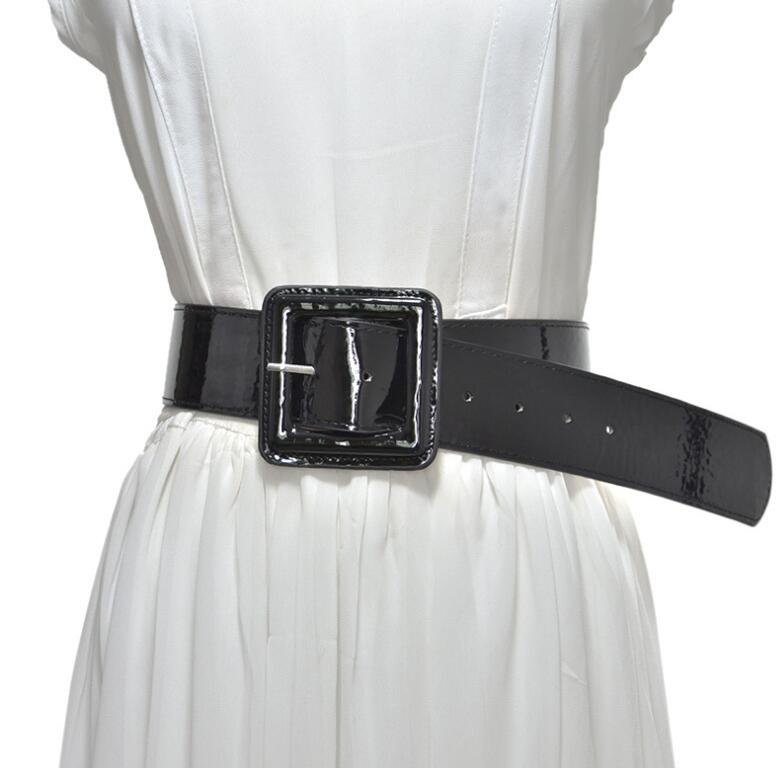 Women's Runway Fashion Faux Leather Cummerbunds Female Vintage Dress Corsets Waistband Belts Decoration Wide Belt R1438