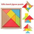 New Children Mental Development Tangram Wooden Jigsaw Puzzle Educational Toys for Kids